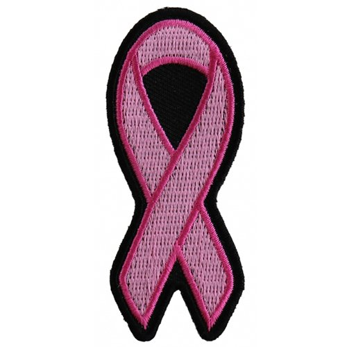 CP 1.25x3 Inch Small Pink Ribbon Breast Cancer Awareness Patch