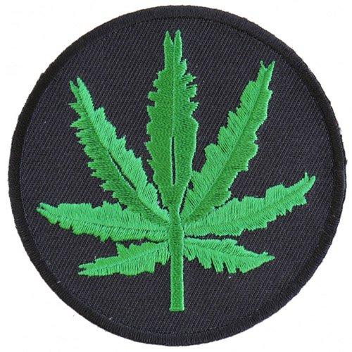 Marijuana Leaf Patch - 3x3 Inch - Black/Green