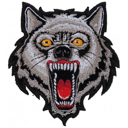 3.5x4 Inch Small Wolf Design Patch