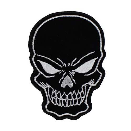 Black Skull Patch Small