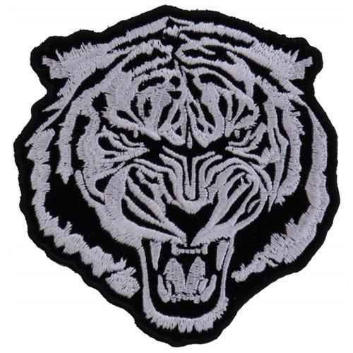 Small White Baron Tiger Cloth Patch - 3.75x4 Inch