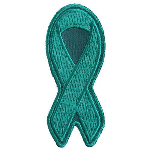 Teal PTSD Awareness Ribbon Patch - 3x1.25 Inch