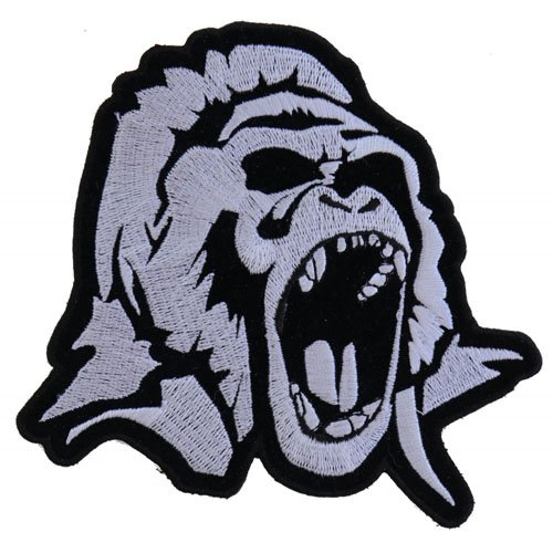 Gorilla Small Embroidered Patch