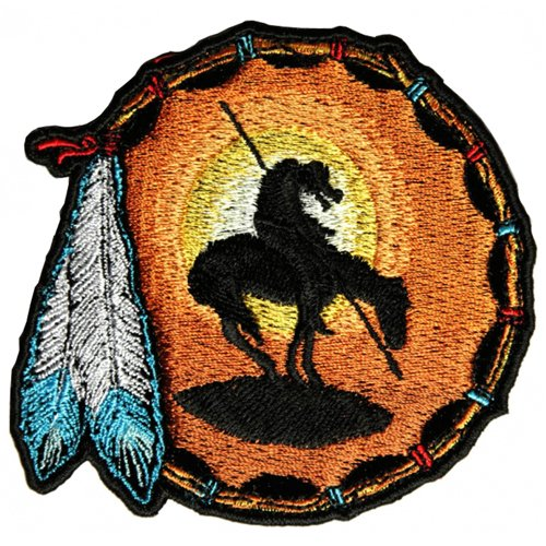 End Of The Trail Small Embroidered Patch - 3.5x3.5 Inch