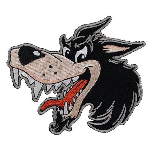 Small Cartoon Wolf Patch - 4x4 Inch