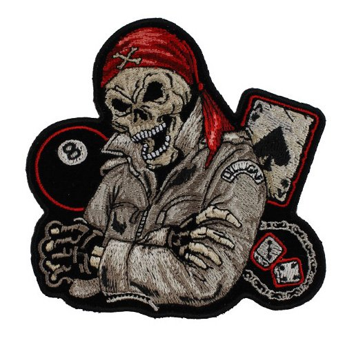 Biker Guy Skull Small Patch - 4x4 Inch