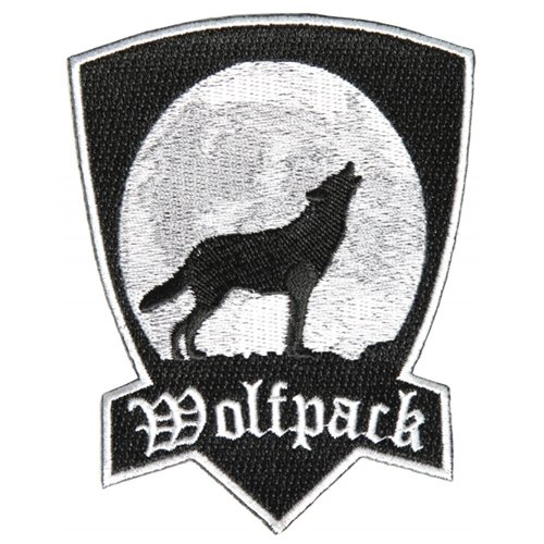 Wolfpack Patch With Howling Wolf - 3x4 Inch