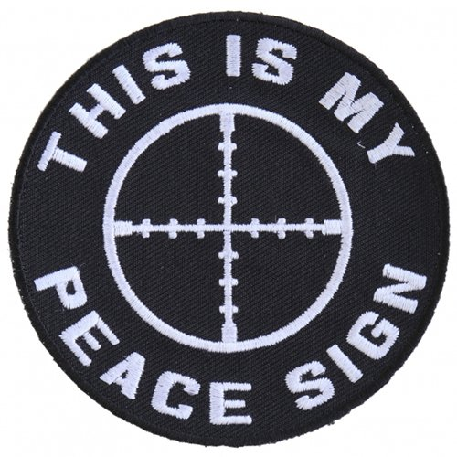 This Is My Peace Sign Jacket and Vest Patch - 3.5x3.5 Inch