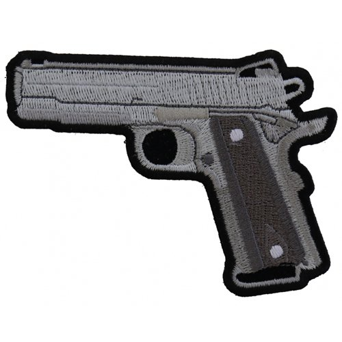 9mm Gun Embroidered Patch - 4x3 Inch