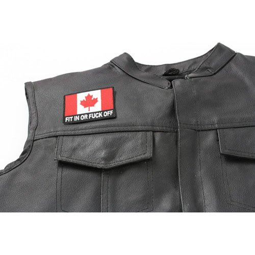 Fit In or Fuck Off Canada Flag Patch