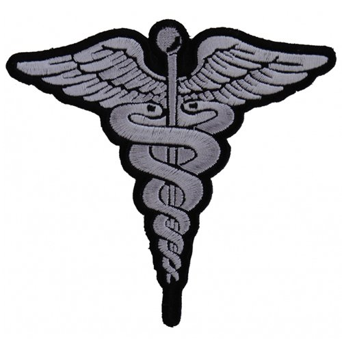 BW Medic Symbol Embroidered Patch - 4x3.8 Inch