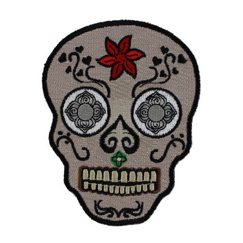 Sugar Skull Patch - 3x3.8 Inch