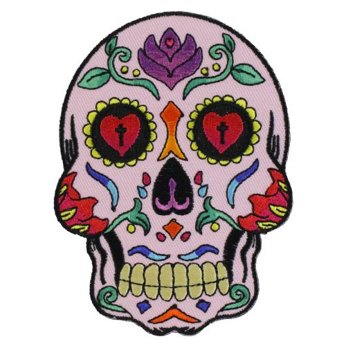 Sugar Skull Pink Patch - 3x4 Inch
