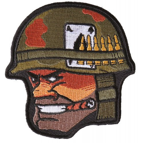 Soldier Cigar Ace of Spades Bullets and Helmet Embroidered Patch