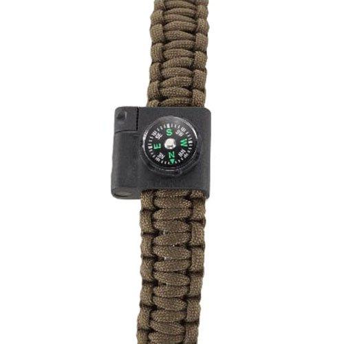 CRKT Stokes Compass & Fire-Starter Paracord Bracelet Accessory