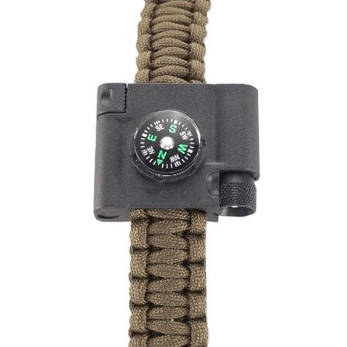 CRKT Stokes Compass, LED & Fire-Starter Paracord Bracelet Accessory