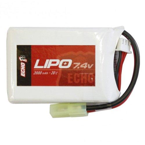 Echo1 7.4V 1600mAh 30C AEG Airsoft LiPo Battery