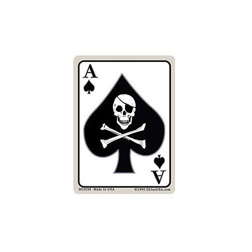 Card Dec-Death Ace 2-34 Inch X 3-34 Inch