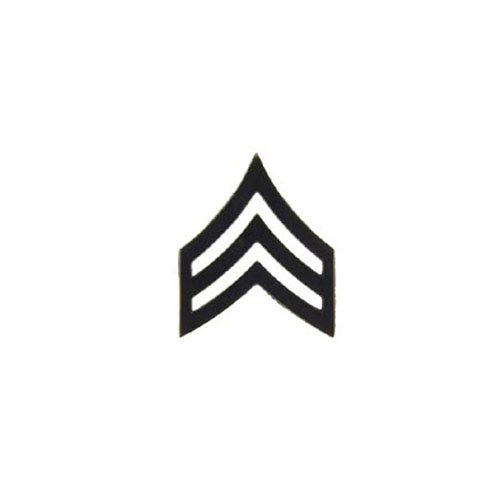 Rank-Army E5 SGT 1 Inch Subdued Pin