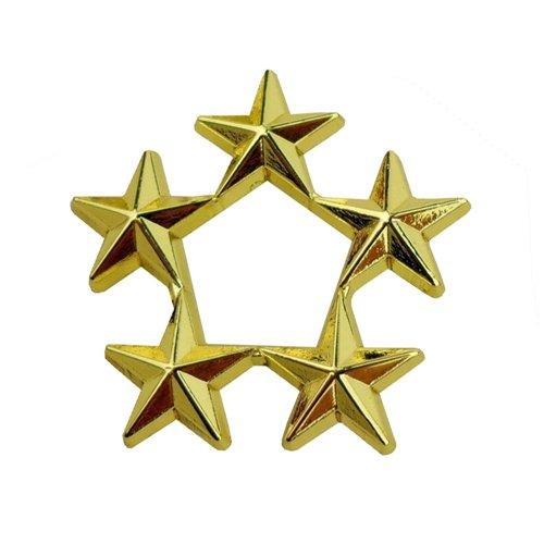 Rank Army General Star D5 Pin