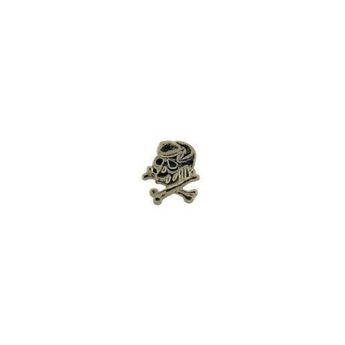 Pin 1 Inch Skull And Bones