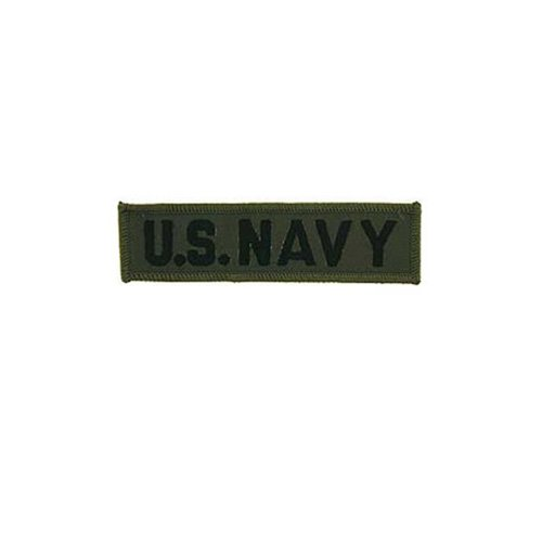 US Navy Tab Subduded 1-1/4 Inch by 4-3/4 Inch Patch