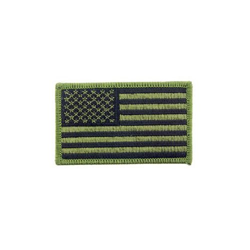 Flag USA Rect Olive Drab Patch