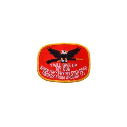 I Will Give Up Gun 3-3/4 Inch Patch