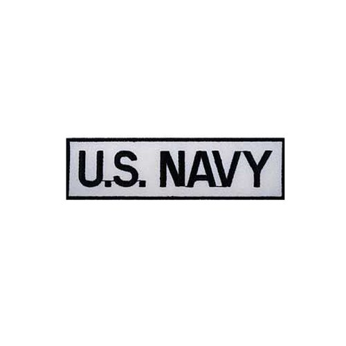 US Navy Tab White/Black Patch