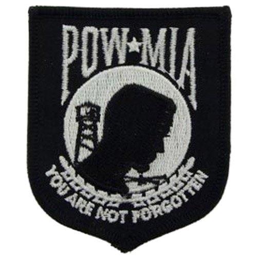 Eagle Emblems 3 Inch POWMIA Patch - Black