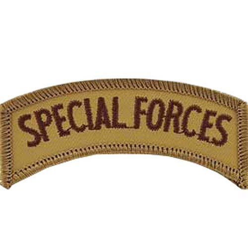 Eagle Emblem Special Forces Airborne Embroidered Tab Patch - 3 Inch