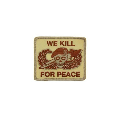 Patch We Kill For Peace Desert 3-1/4 Inch