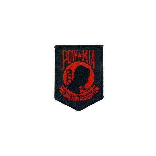 Red Black Patch Pow MIA