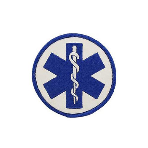 Patch Ems Logo-Plain Staff Of Asclepius 3 Inch