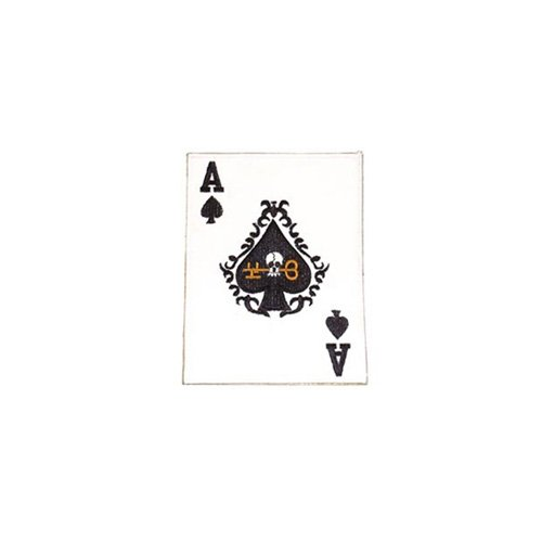 Patch Card Ace-Spade 6 Inch X 4-1/2 Inch