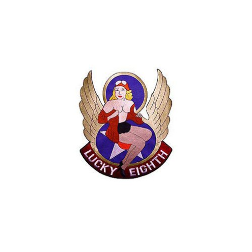 Patch Nose Art Lucky Eigh 9-3/4 Inch