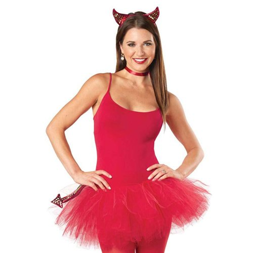 Women Devil Punky Costume Kit - Pink
