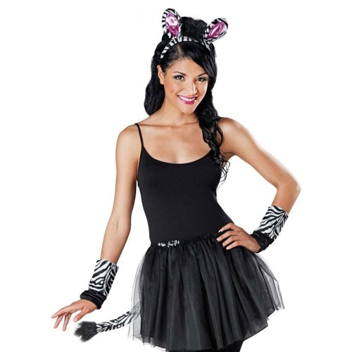 Adult Zebra Costume Kit - Black