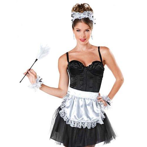 French Maid Costume Kit - Black/White