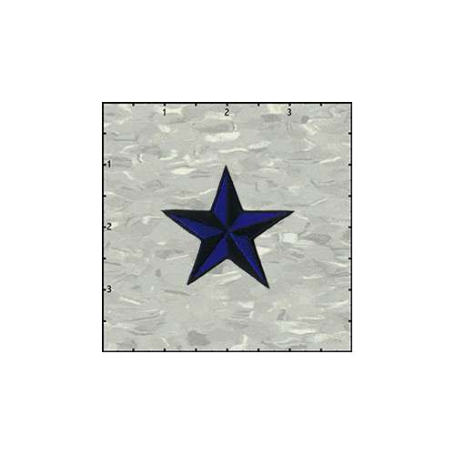 Star 3-D 2 Inches Blue And Black Patch
