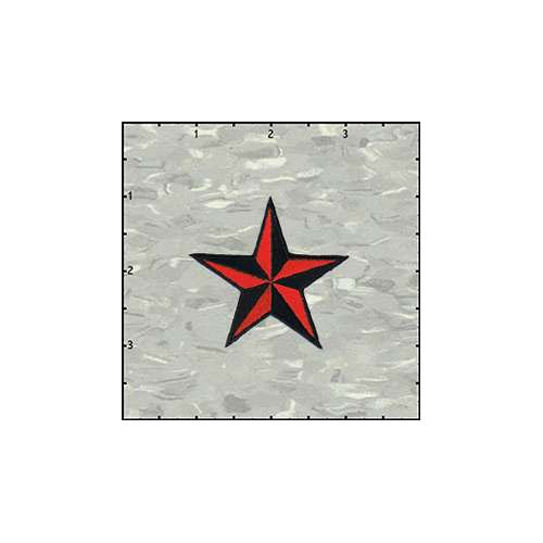 Star 3-D 2 Inches Red And Black Patch