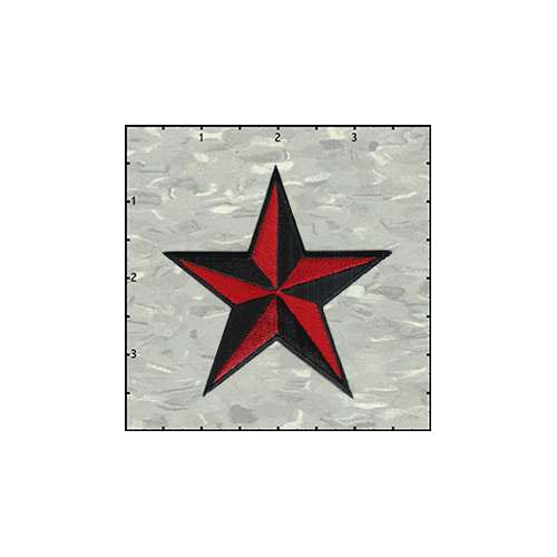 Star 3-D 3 Inches Red And Black Patch
