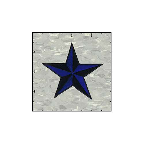 Star 3-D 3 Inches Blue And Black Patch