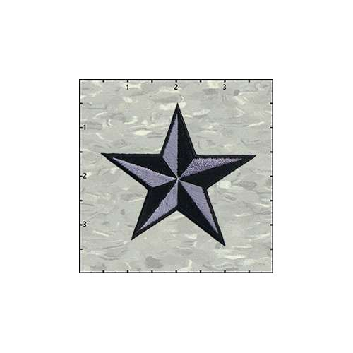 Star 3-D 3 Inches Grey And Black Patch