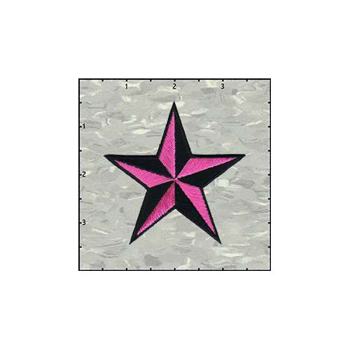 Star 3-D 3 Inches Pink And Black Patch