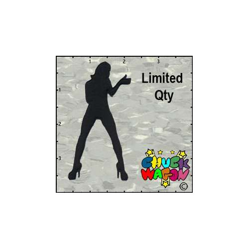 Chuckwagons Silhouette Girl Singing Patch