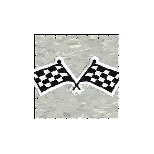 Racing Flag 4.5 Inches Patch