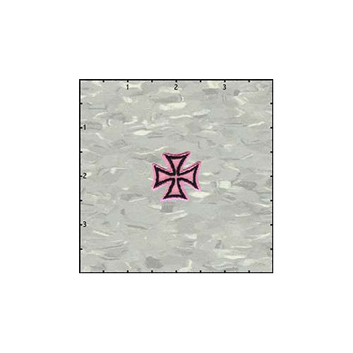 Maltese Cross Velveteen 1 Inches Pink Patch