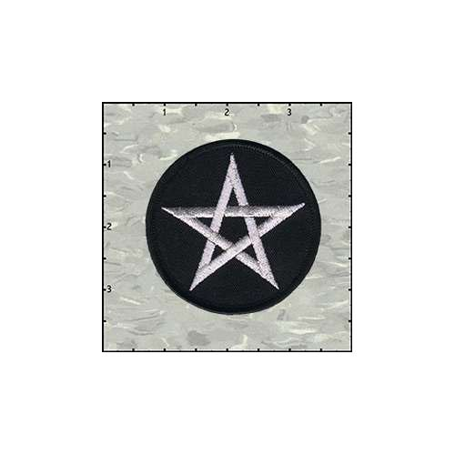 Pentagram 3 Inches Silver Patch