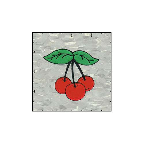 Cherries Trio Fuzzy 2.5 Inches Red Patch